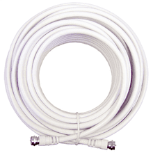 20 ft. White RG6 Low-Loss Coax (F Male to F Male)