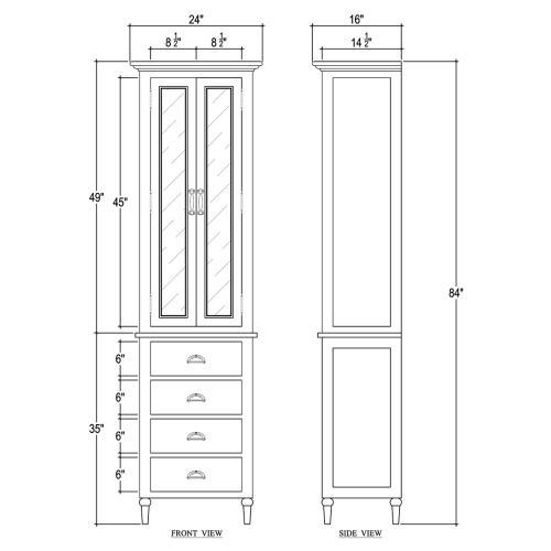 Jefferson Tall Bath Cabinet