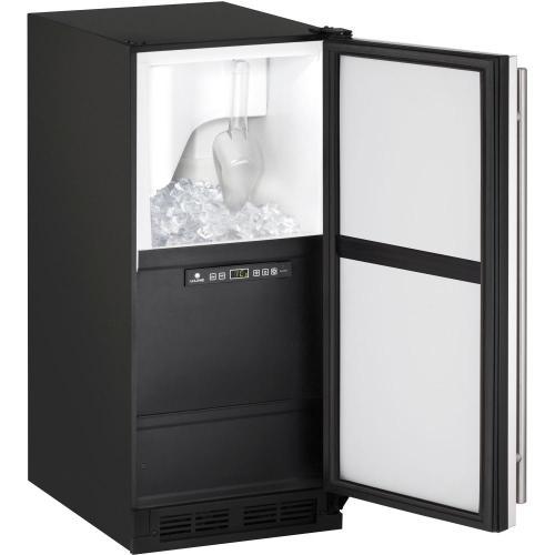 """U-Line - CLR1215 Clear Ice Maker 15"""",No Pump,Reversible Door Hinge"""