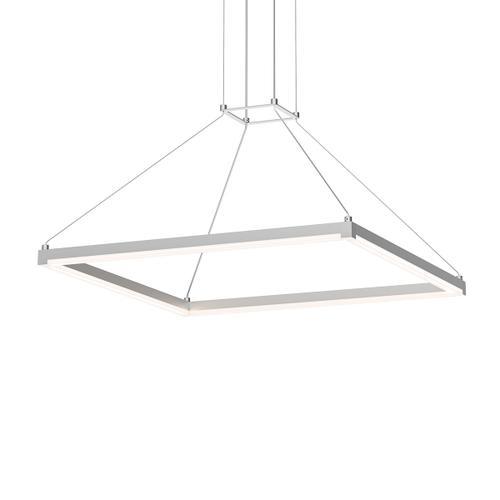 "Sonneman - A Way of Light - Stix Square LED Pendant [Size=24"", Color/Finish=Bright Satin Aluminum]"