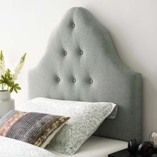View Product - Sovereign Twin Upholstered Fabric Headboard in Gray