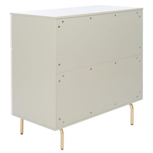 Product Image - Genevieve 3 Drawer Dresser - Grey / White Washed