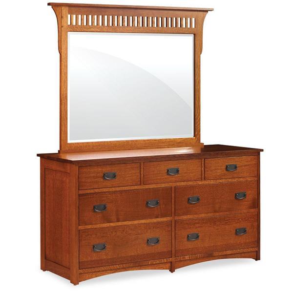 See Details - Prairie Mission 7-Drawer Dresser, 61 'w x 22 'd x 33 'h