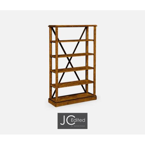 Country Walnut étagère or Bookcase