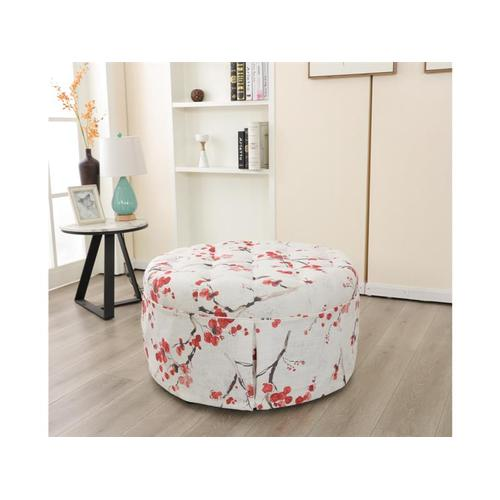 Ivory Accent Cocktail Ottoman