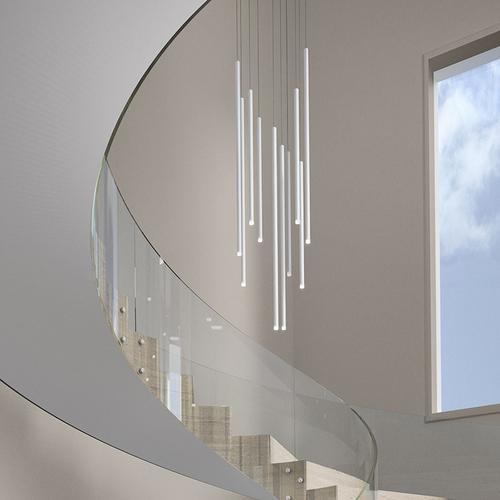 "Sonneman - A Way of Light - Light Chimes LED Pendant [Size=6-Light 32"", Color/Finish=Satin Black]"
