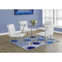 "DINING TABLE - 36""X 48"" / CHROME WITH 8MM TEMPERED GLASS"
