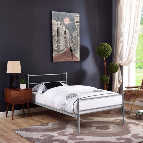 Modway - Alina Twin Platform Bed Frame in Gray