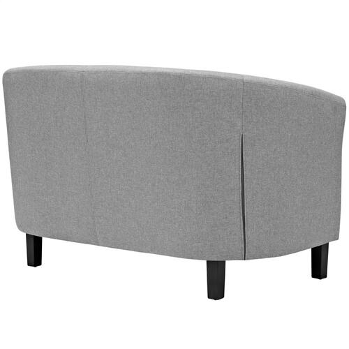 Prospect Upholstered Fabric Loveseat in Light Gray