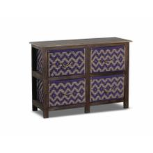 See Details - Storage Console With 4 Baskets