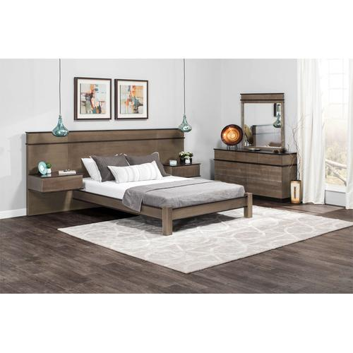 "Audri Panel Bed with 18"" Attached Nightstands (Redesigned), Audri Panel Bed with 18"" Attached Nightstands, Queen"