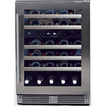 24in Wine Cellar 2 Zone SS Glass RH