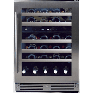 XO APPLIANCE24in Wine Cellar 2 Zone SS Glass RH