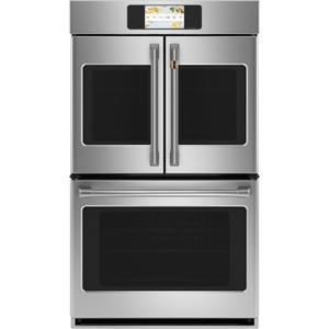 "Cafe AppliancesProfessional Series 30"" Smart Built-In Convection French-Door Double Wall Oven"