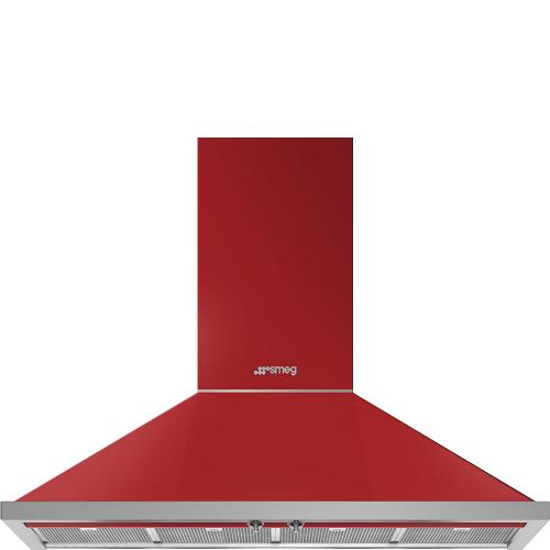 "48"" Portofino Chimney Hood, Red"