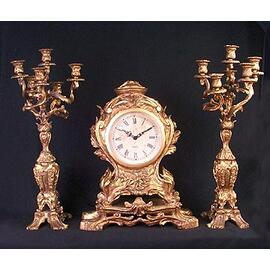 Clock and Candleabra Set (st).