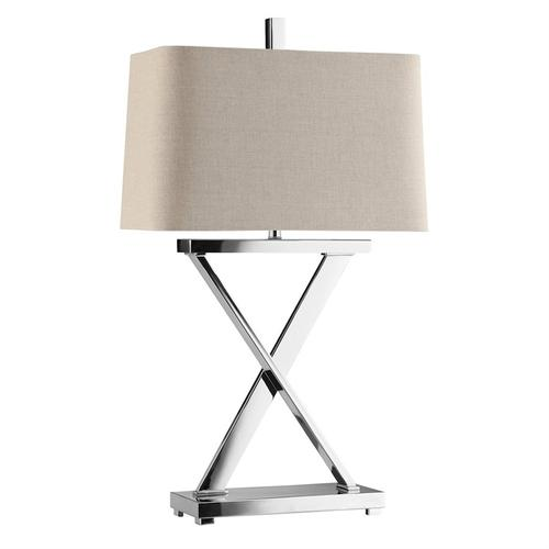 Max Polished Nickel Table Lamp