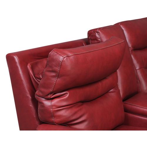 Fortuna Dual-Power Leather Recliner, Wine