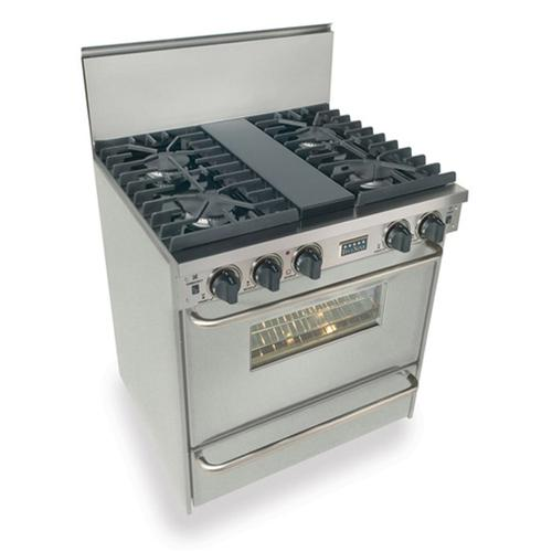 """Five Star - 30"""" All Gas, Convect, Sealed Burners, Stainless Steel"""