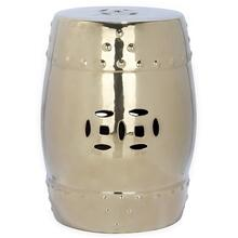 See Details - Gold Modern Ming Garden Stool - Gold