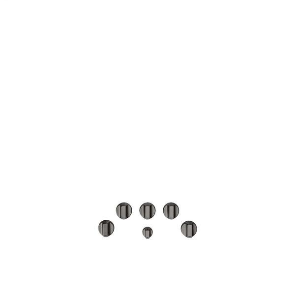 Café 5 Gas Cooktop Knobs - Brushed Black