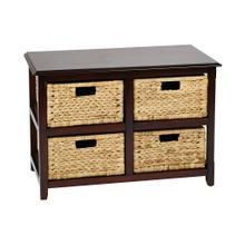 See Details - Seabrook Two-tier Storage Unit With Espresso Finish and Natural Baskets