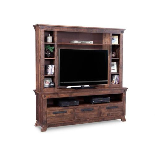 Handstone - Algoma HDTV Unit with Hutch with 44'' TV IOpening