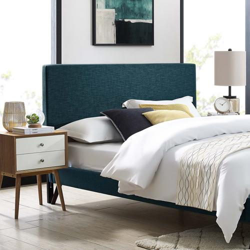 Modway - Taylor King and California King Upholstered Linen Fabric Headboard in Azure