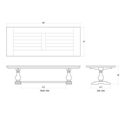 Trestle Dining Table 120''