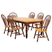 See Details - Extendable Dining Set w/Side Chairs & Arm Chairs (7 Piece)