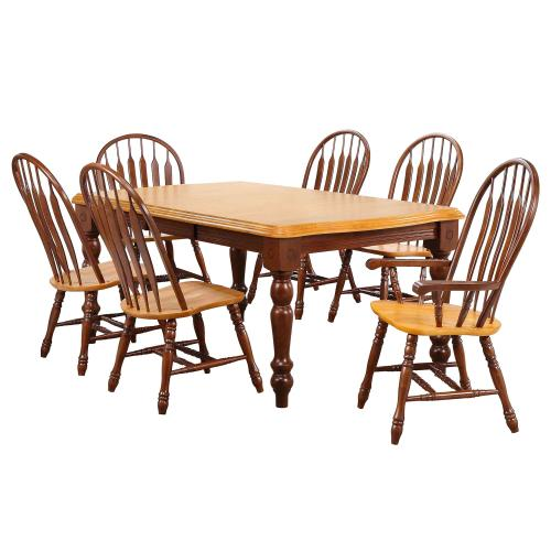 Product Image - Extendable Dining Set w/Side Chairs & Arm Chairs (7 Piece)
