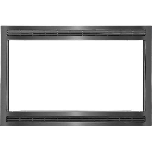 """Frigidaire - Black/Stainless 27"""" Microwave Trim Kit"""