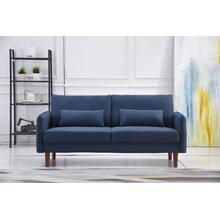 See Details - 8155 NAVY Linen Stationary Basic Sofa