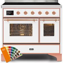View Product - Majestic II 40 Inch Electric Freestanding Range in Custom RAL Color with Copper Trim