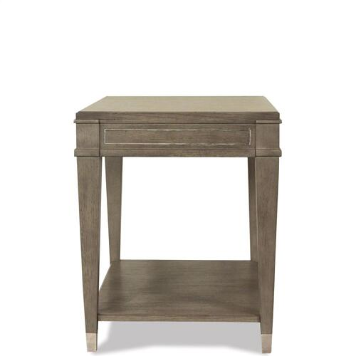 Rectangular Side Table - Gray Wash Finish