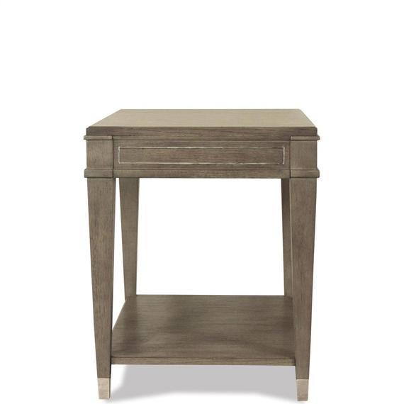 Riverside - Rectangular Side Table - Gray Wash Finish