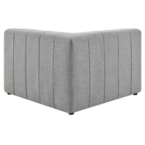 Modway - Bartlett Upholstered Fabric Corner Chair in Light Gray