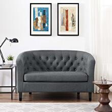 Prospect Upholstered Fabric Loveseat in Gray