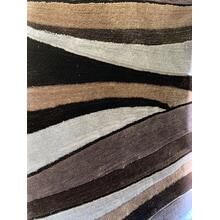 Vibrant Hand Tufted Modern Shag Lola 17 Area Rug by Rug Factory Plus - 5' x 7' / Earth