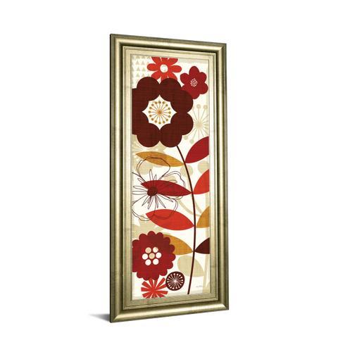 """Floral Pop Panel I"" By Mo Mullan Framed Print Wall Art"