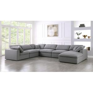 "Serene Linen Deluxe Cloud Modular Down Filled Overstuffed Reversible Sectional - 158"" W x 120"" D x 32"" H"