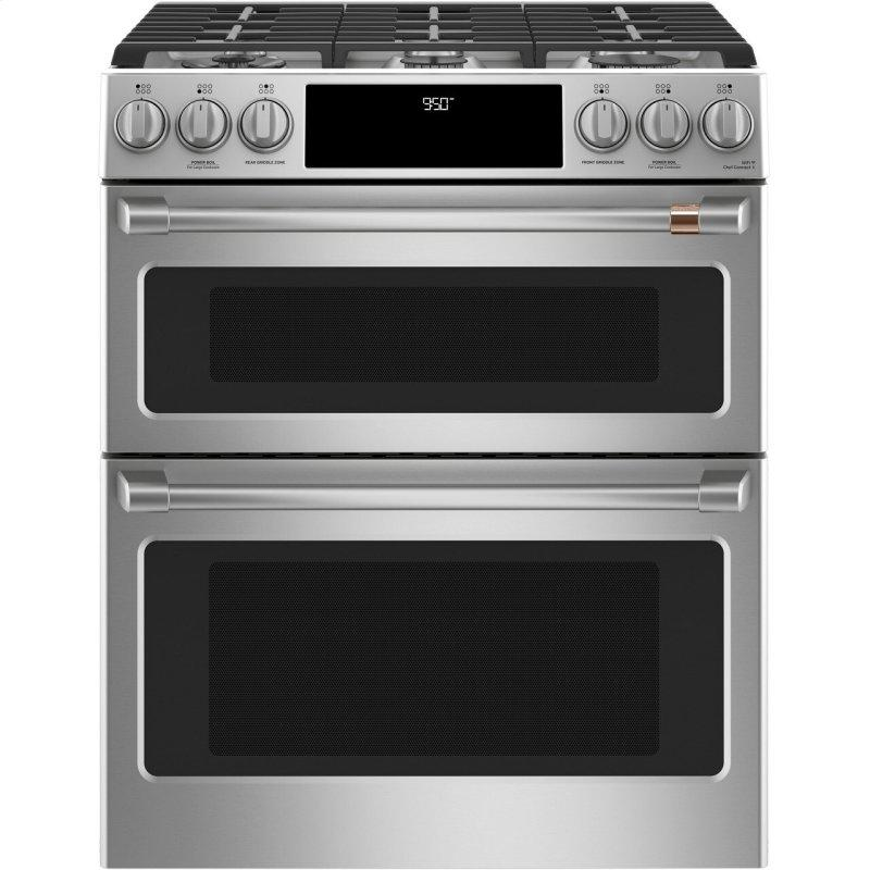 "30"" Smart Slide-In, Front-Control, Dual-Fuel, Double-Oven Range with Convection"