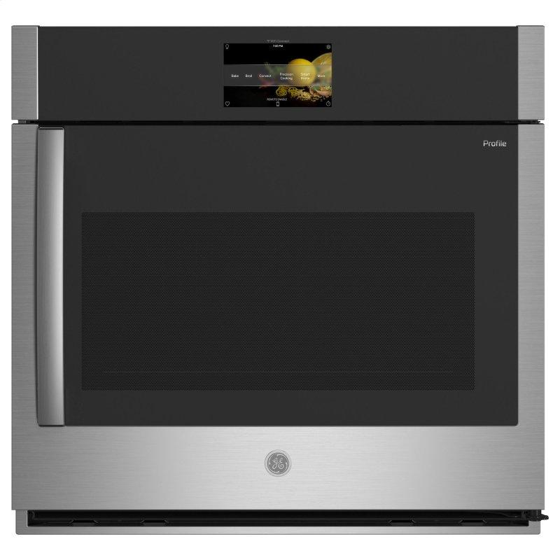 """GE Profile™ 30"""" Smart Built-In Convection Single Wall Oven with Right-Hand Side-Swing Doors"""