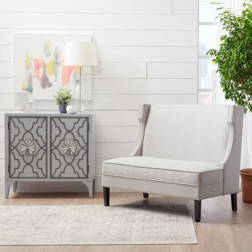 Accentrics Home - Concave Shelter Wing Entryway Bench in Off White