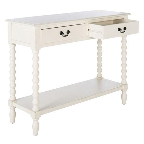 Safavieh - Athena 2 Drawer Console Table - Distressed White