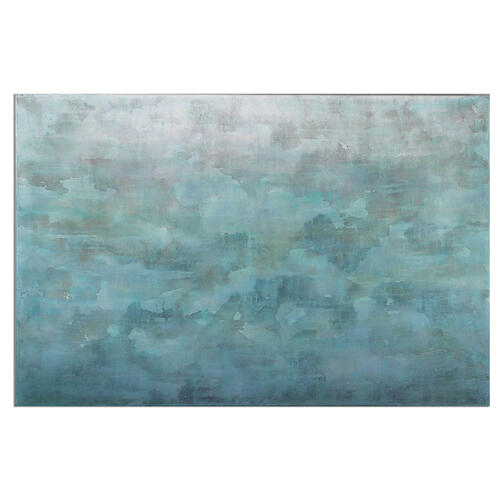 Frosted Landscape Hand Painted Canvas