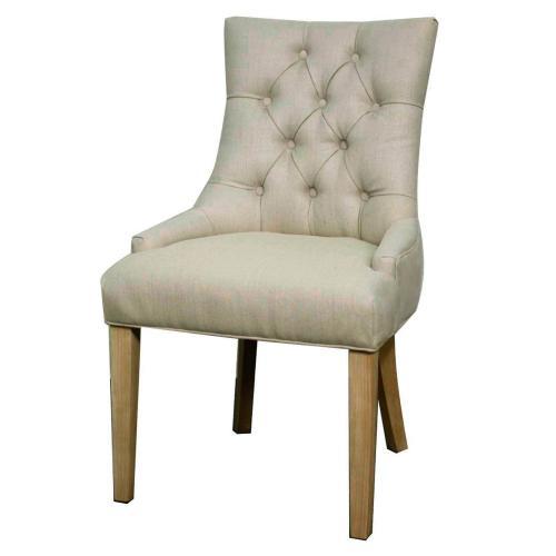 Nicole Fabric KD Dining Chair NWO Leg, Sand