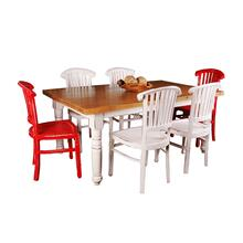 Cottage Dining Set - Whitewashed (7 piece)