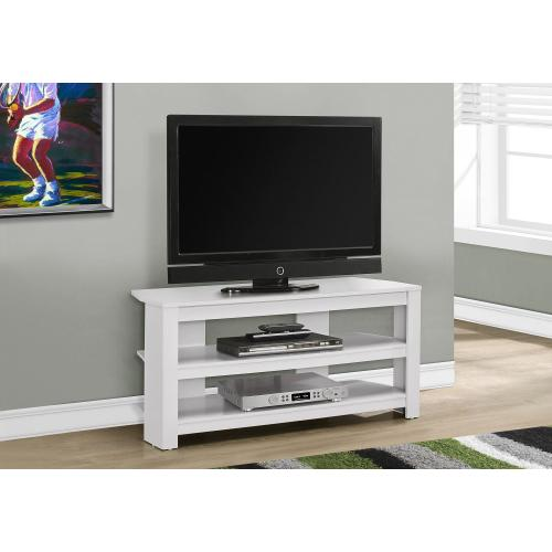 """Gallery - TV STAND - 42""""L / WHITE CORNER"""