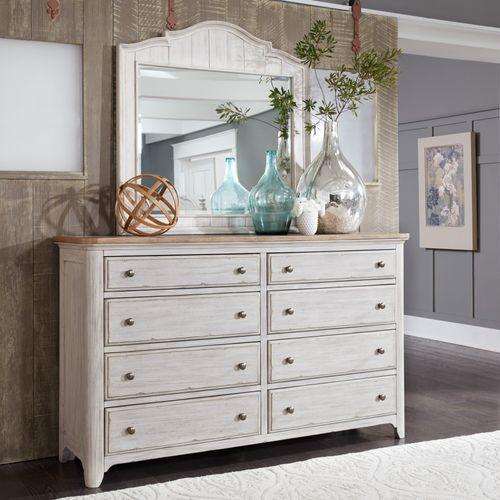 Gallery - King Panel Bed, Dresser & Mirror